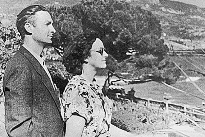 Георгий Вицин с женой Тамарой