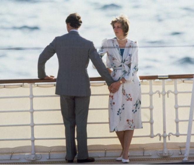 Диана и Чарльз на яхте