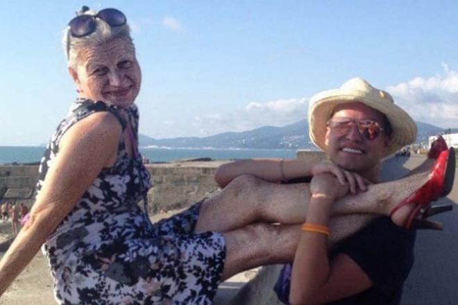 Гоген Солнцев и Екатерина Терешкович на отдыхе